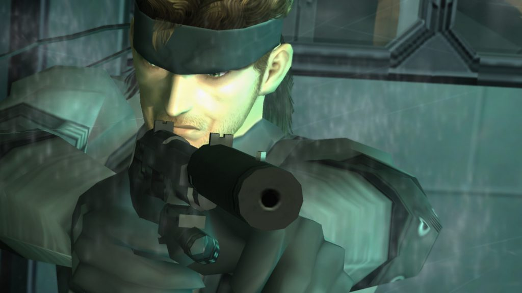 This image has an empty alt attribute; its file name is MGS2_Snake-pistol-1024x576.jpg